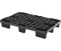 Palette export en plastique 1200x800x155 • Plancher supérieur ouvert