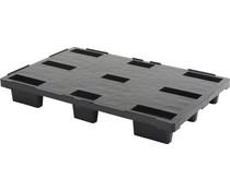 Palette export en plastique 1200x800x155 • Plancher supérieur plein