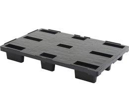 Palette export emboitable en plastique 1200x800x155 • Plancher supérieur plein • palette légère