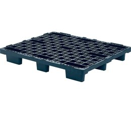 Nestbare kunststof pallet 1200x1000x160 • open bovendek • 9 poten