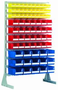 Rayonnages ou racks fixes ou mobiles pour bacs à bec