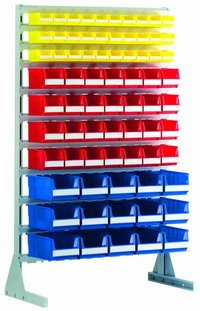 Standing shelfs and mobile racks for storage bins