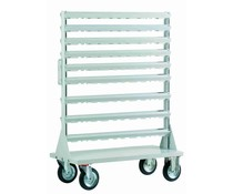 Grundgestell für Fahrregal • 4 Räder