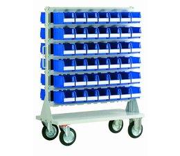 Mobile rack with 84 bins BISB4 Series