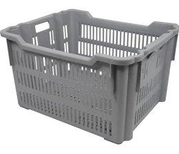 Kunststoff- Brotbehälter 625x500x360, Drehstapelbehälter, lebensmittelecht