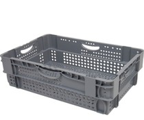 Stack nest container 600x400x190 perforated • 36 Liter