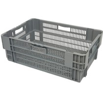 Stack nest container 600x400x245 perforated • 47 Liter