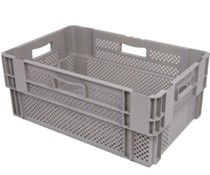 Stack nest container 600x400x320 perforated • 60 Liter