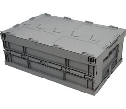 Folding container 600x400x223 • with lid