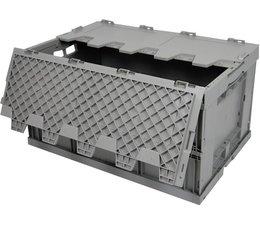 Bac pliable 600x400x320 avec couvercle