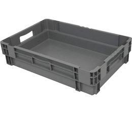 Stapel- en nestbare bakken 600x400x140 gesloten, 26 Liter, 2 handgrepen