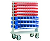 Mobile rack with 100 bins BISB5 Series and 42 bins Series BISB4