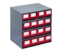 Blocs-tiroirs 376x300x400 avec 16 bacs de rangement