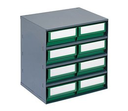 Drawer cabinet 376x300x400 with 8 rack boxes