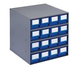 Blocs-tiroirs 376x400x400 avec 16 bacs de rangement