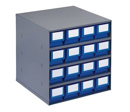 Drawer cabinet 376x400x400 with 16 rack boxes