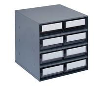 Blocs-tiroirs 376x400x400 avec 8 bacs de rangement
