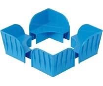 Plastic stacking corner