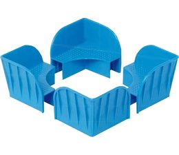 Kunststof stapelhoek voor opzetranden • verpakkingseenheid 180 Stuk