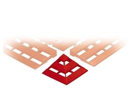 Hoekverbinding voor kunststof vloerroosters