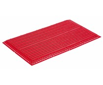Plastic floor tile with ramp and corner piece