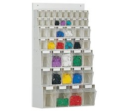Parts storage system 44 boxes • wooden board • wall fixing