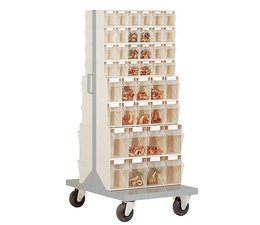 Parts storage system • mobile • with 84 clear boxes