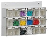 Bacs de stockage basculants transparents