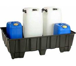 Spill containment pallet 1220x820x370 mm • 9 feet • 235 Liter