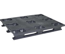 Industrial plastic pallet 1200x1000x160 • 3 runners