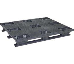 Palette industrielle en plastique 1200x1000x160 • 3 semelles