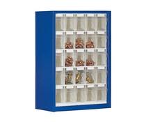 Magazinschrank mit 25 Klarsichtboxen Modell BISTS5