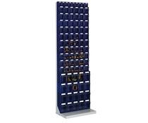 Kantelbakkenmagazijn op staander met 89 kantelbakjes