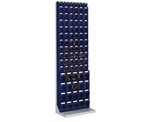 Workshop shelf with 89 bins