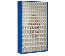 Magazinschrank mit 154 Klarsichtboxen • 2000 mm hoch