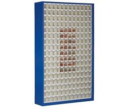 Magazinschrank mit 204 Klarsichtboxen • 2000 mm hoch