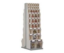 Dubbelzijdig kantelbakkenmagazijn • staander met 74 kantelbakjes