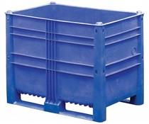 DOLAV Palletbox 1200x800x950 • 652 L blauw gesloten