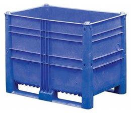 DOLAV Box pallet 1200x800x950 mm, volume 652 l, 2 skids, heavy duty, food proved plastic