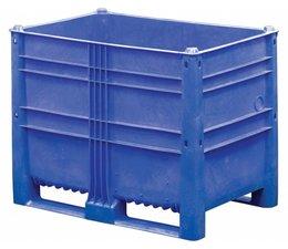 DOLAV Palettenbox 1200x800x950 mm, volume 652 l, 2 langslatten, voor zware lasten en voedingsgeschikt