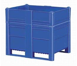 DOLAV Palettenbox 1200x800x1000 mm, Volumen 700 l, 2 Kufen, geeignet für schwere Lasten und Lebensmittekontakt