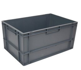 Euro container 600x400x320 solid • closed handles