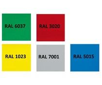 Mogelijke kleuren voor Euronorm bakken