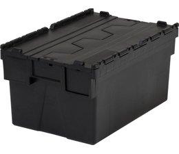 LOADHOG Bacs de distribution 600x400x310 gris foncé/noir • 56 Litres