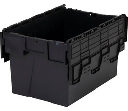 LOADHOG Attached lid container 600x400x365 grey • 65 Liter