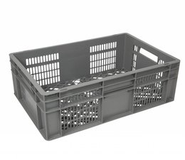 Euronorm crate • glass crate 600x400x200 perforated
