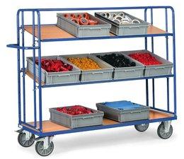 Bakkenwagens 1250x610x1560 • 3 verstelbare niveaus • bakken niet inbegrepen