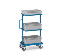 Storage trolley 820x450x1178 • 3 shelves • with timber boards • boxes not included