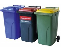 Conteneurs à déchets et de recyclage • 240 Litres