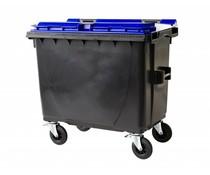 Conteneurs à déchets couvercle plat • 660 Litres • Standard gris